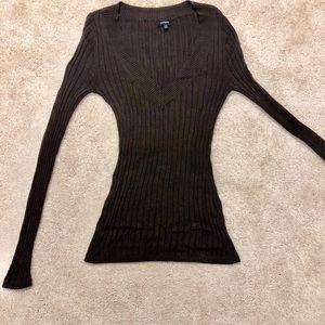 Express v neck brown sweater